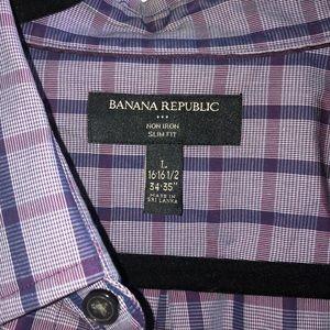 Men's Banana Republic Plaid Dress Shirt